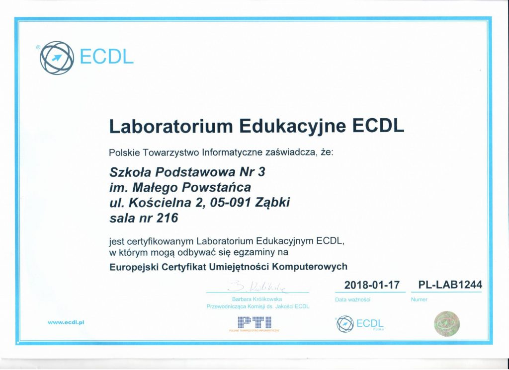 Laboratorium Edukacyjne ECDL
