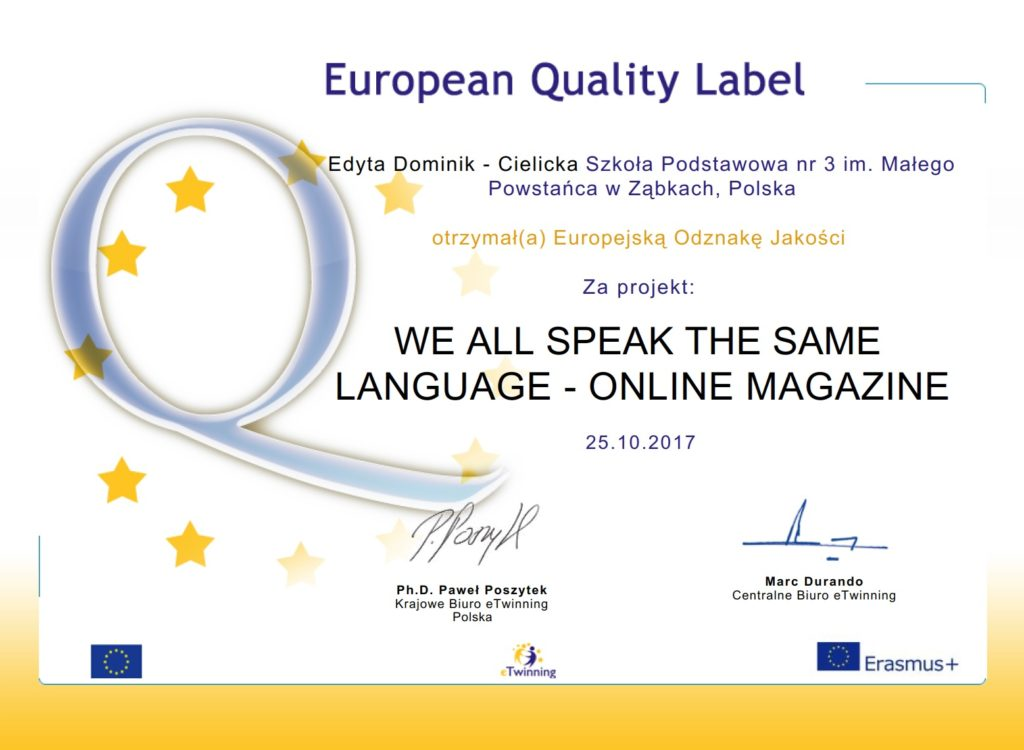 European Quality Label