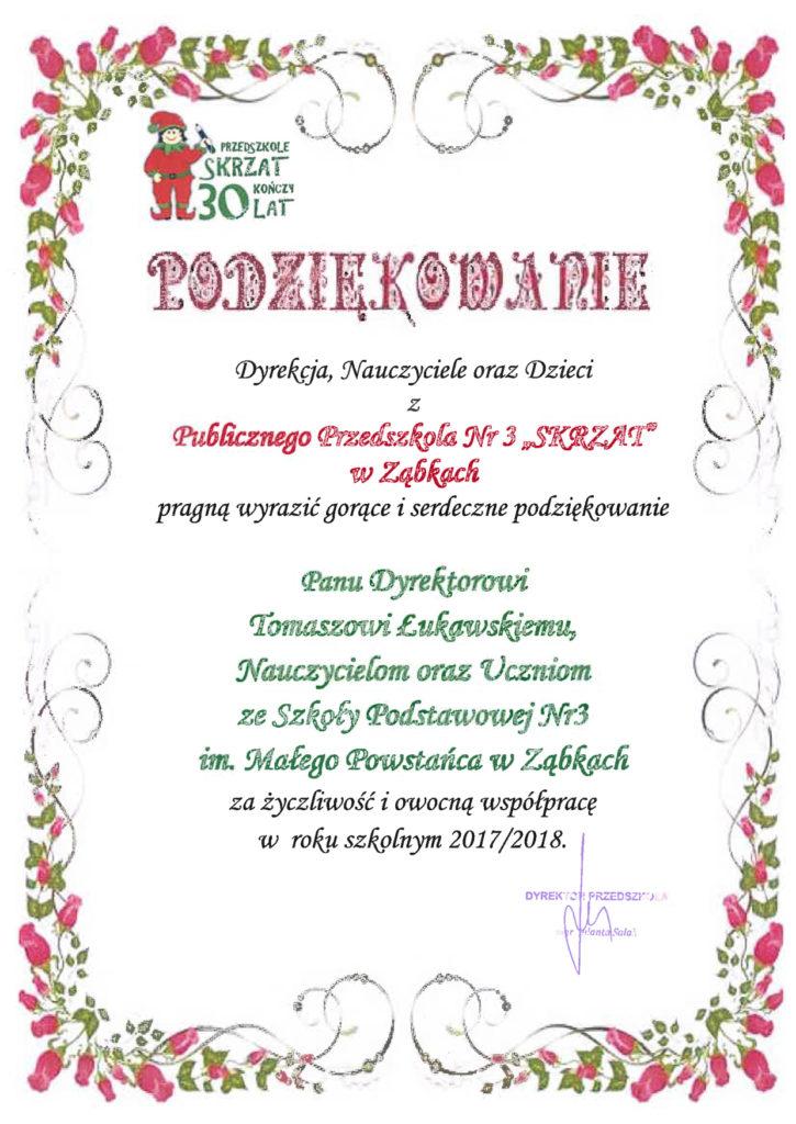 podziekowanieODskarzt