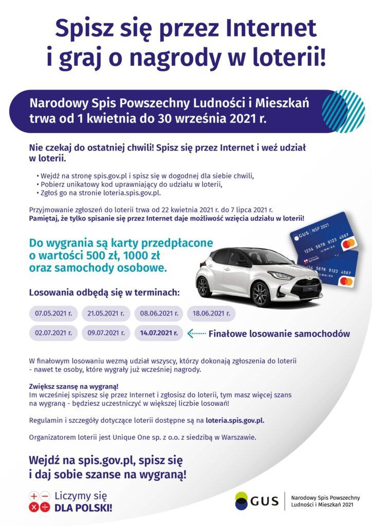 Plakat Loterii NSP